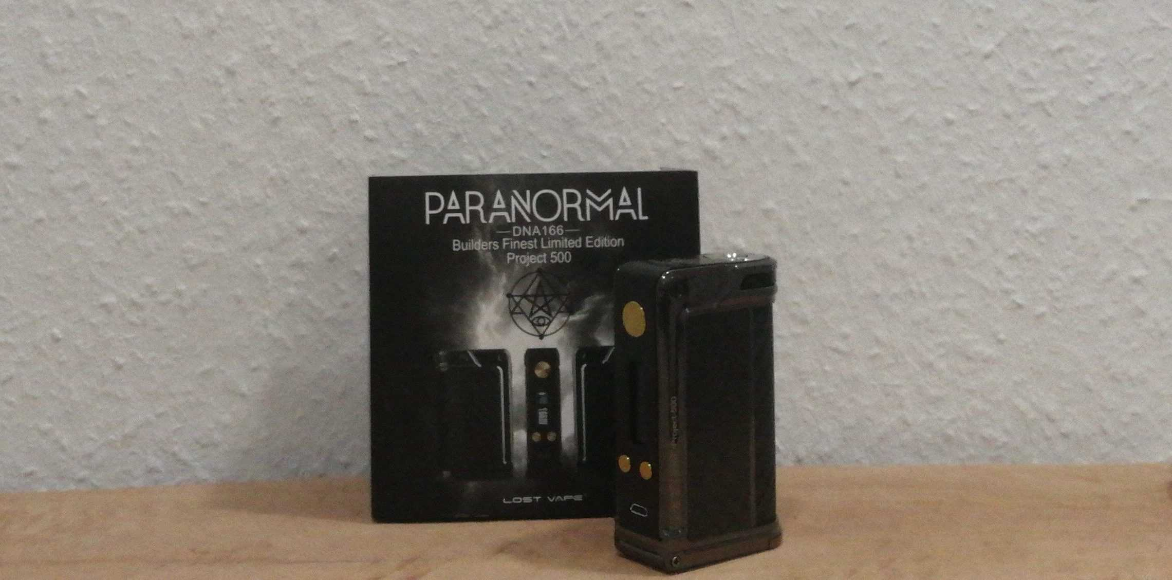 Lost Vape Paranormal DNA 166 Builders Finest Limited Edition ~ Project 500!